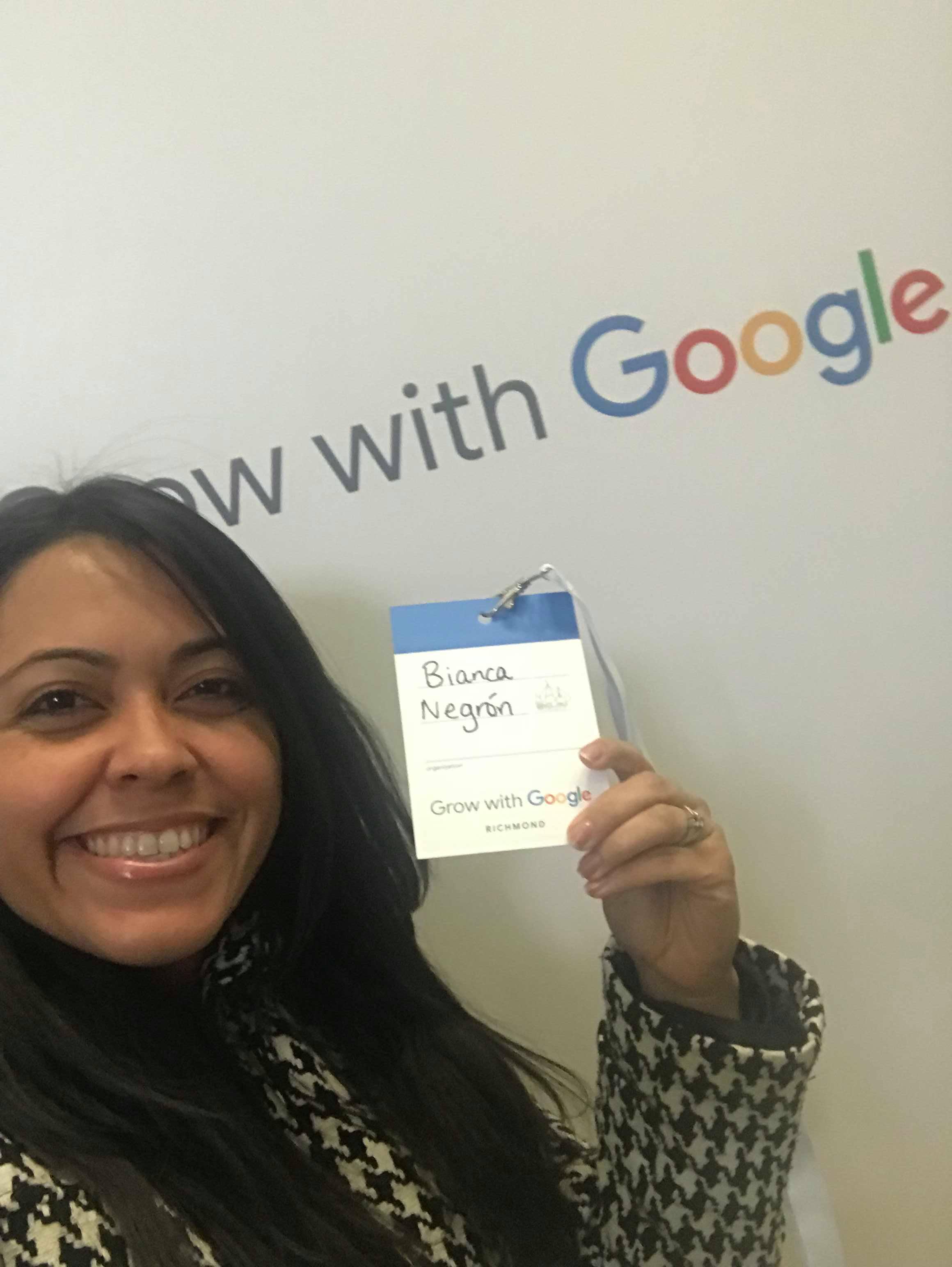 "selfie google 3 ¿Cómo sacarle ventaja a tu Carrera con ""Grow with Google""? Bianca Negrón"
