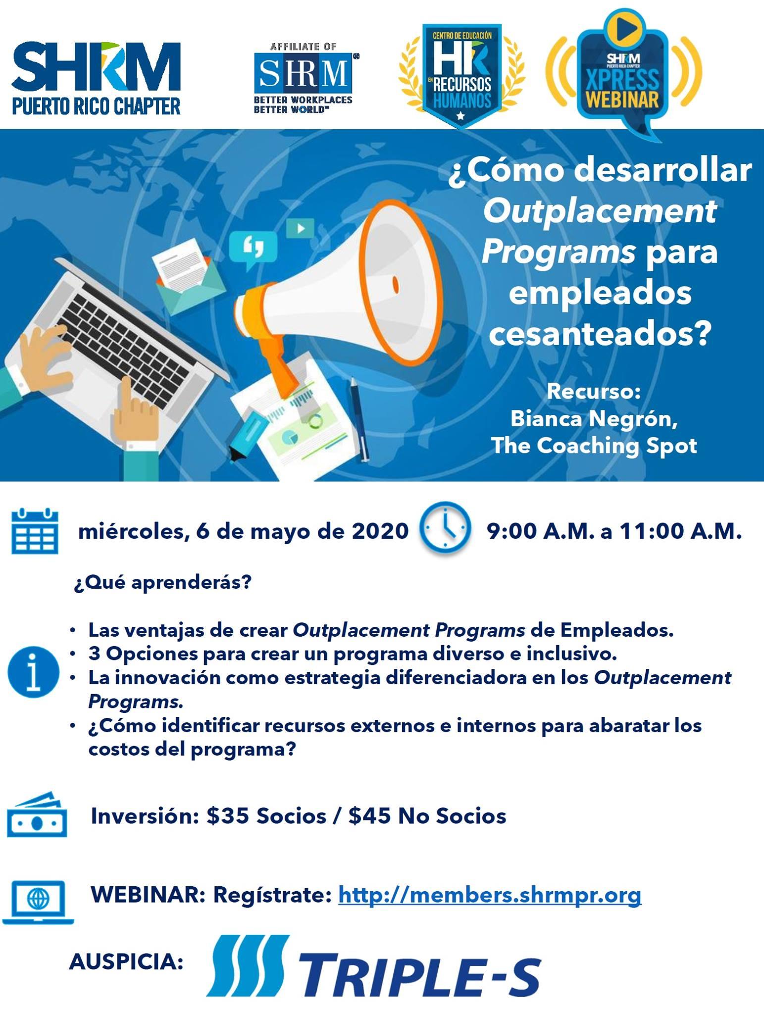 "shrm outplacement programs 5 Razones para que las empresas desarrollen ""Outplacement Programs"" Bianca Negrón"